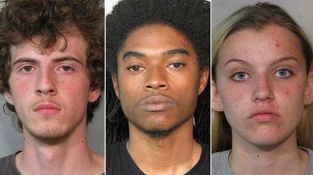 From left: Brandon Battaglia, 18, Avante Lester, 24,