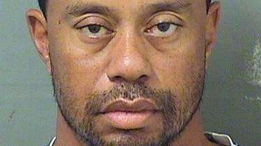 Tiger Woods is seen in this mugshot released