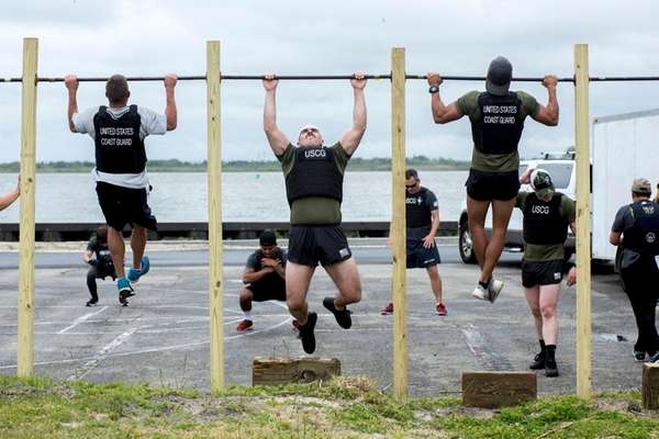 Participants in the Murph Challenge at Coast Guard