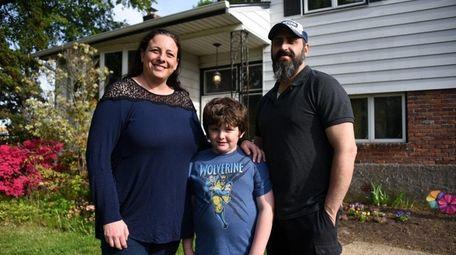 Jennifer and Shalom Gordon with son Philip, 7,
