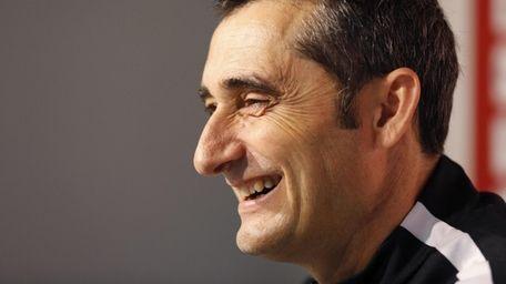 Athletic Bilbao's head coach Ernesto Valverde during a
