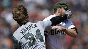 Washington Nationals' Bryce Harper (34) hits San Francisco