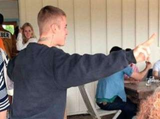 Justin Bieber was spotted at Wolffer Estate Vineyard