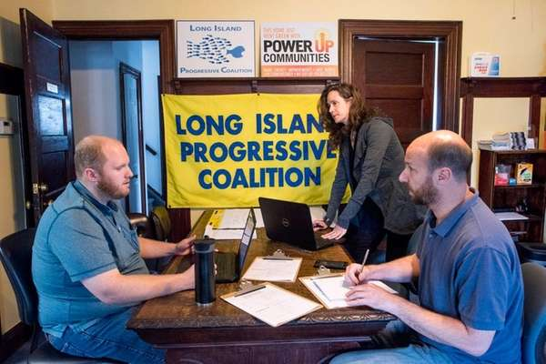 Long Island Progressive Coalition officials, from left, Dan