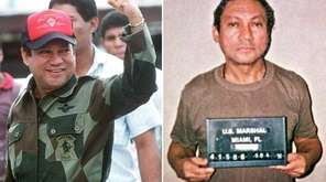 This composite photo shows former Panamanian dictator Manuel Noriega,