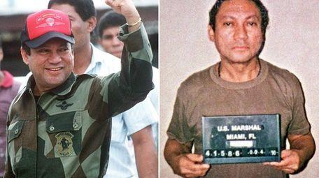 This composite photo shows former Panamanian dictatorManuel Noriega,