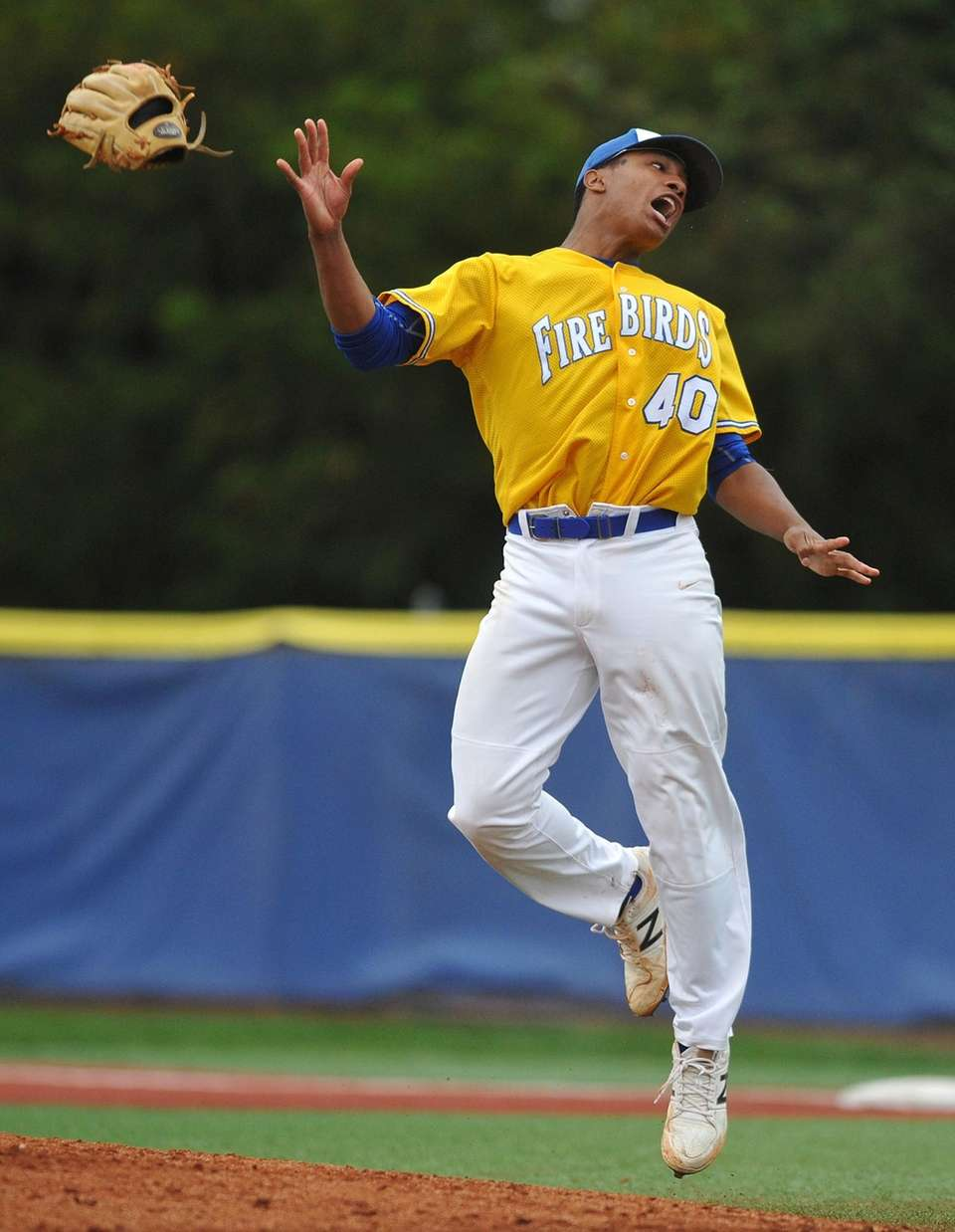 Kellenberg's Jason Diaz reacts after striking out the