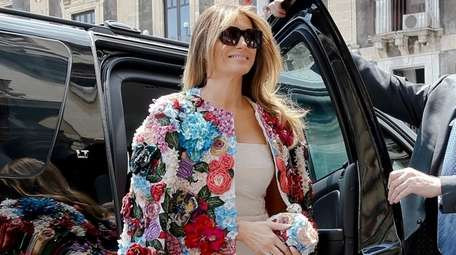 US First Lady Melania Trump steps out of