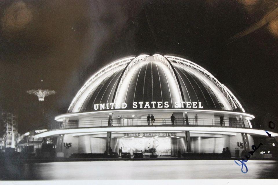 U.S Steel pavilion at night