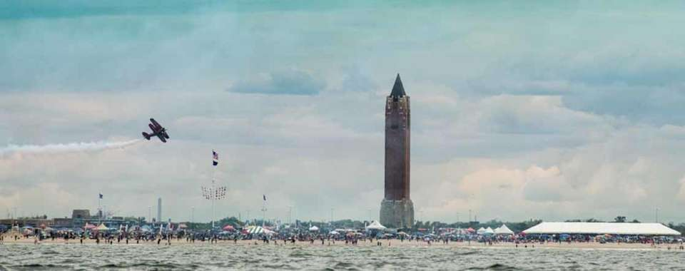 Jones Beach Airshow 2017 view from the ocean