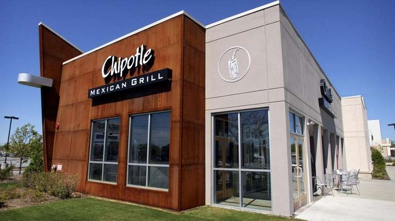 The Chipotle Mexican Grill in Hicksville is among
