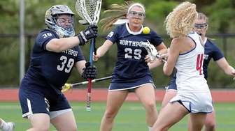 Middle Country midfielder Amanda Masullo (4) with the