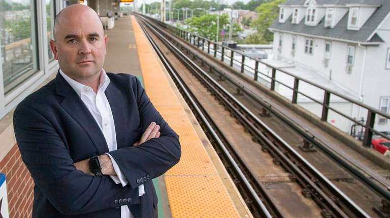 Tom McGuire boarded a 6:34 a.m. LIRR train