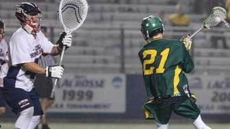 Lynbrook's Mike Bouhal squares off for a shot