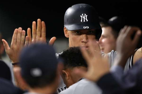 Aaron Judge of the New York Yankees is