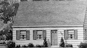 A drawing of the original Levitt Cape Cod