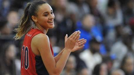 Long Island Lutheran's Celeste Taylor, playing for Team