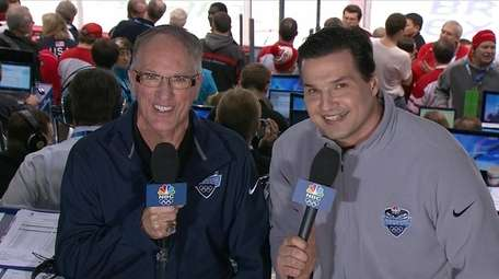 Doc Emrick and Ed Olczyk of NBC.