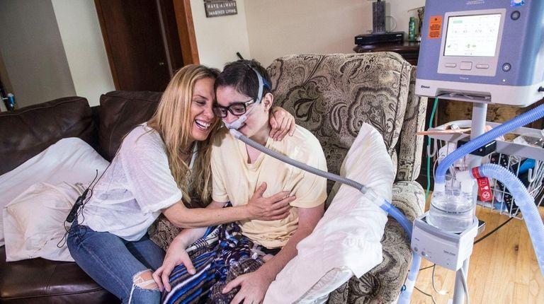Debbie Vigliotti and her son Nicolas, 20, share