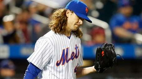Jacob deGrom of the New York Mets looks