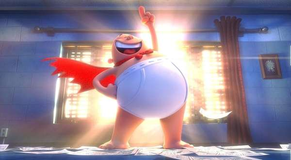 Captain Underpants, a comic superhero voiced by Ed