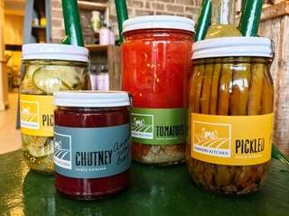 Farmers Kitchen in Riverhead processes and sells preserves,