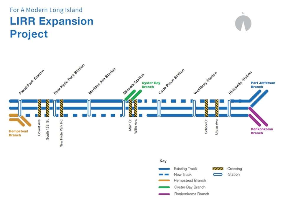 LIRR Third Track Project Diagram