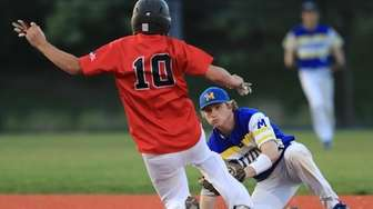 Mattituck second baseman Matt Heffernan #22 makes the