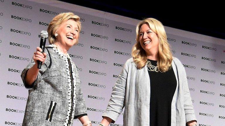 Hillary Clinton returned to Manhattan's Jacob K. Javits