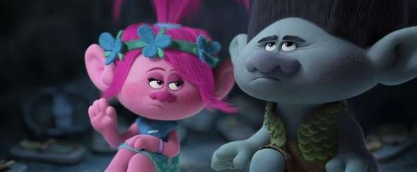 Poppy (voiced by Anna Kendrick) and Branch (voiced