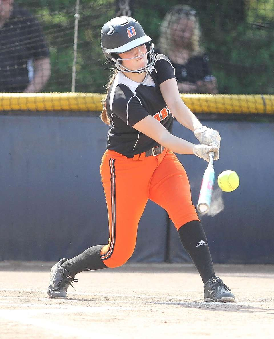 Babylon's Allie Stanya hits in the first inning