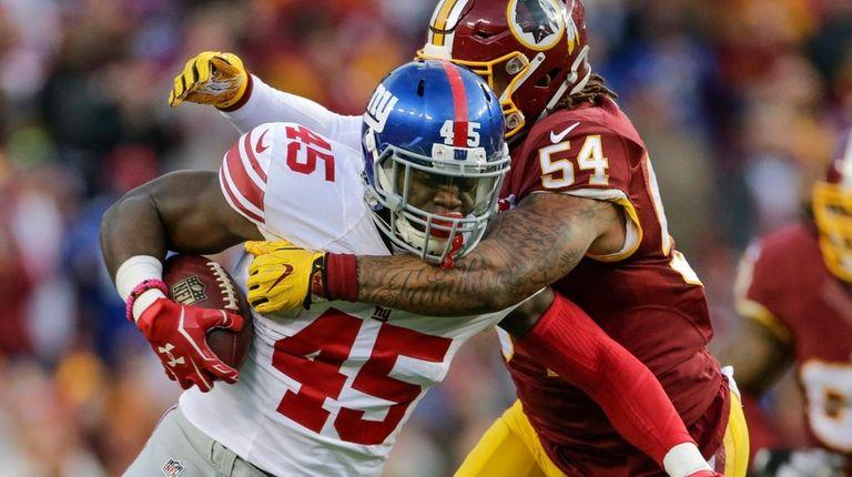 New York Giants tight end Will Tye (45)