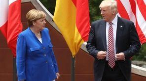German Chancellor Angela Merkel and President Donald