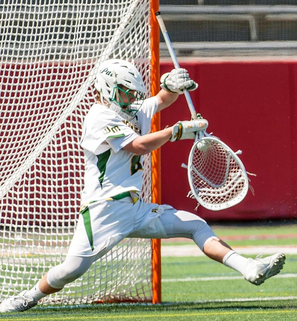 Ward Melville goalie Perry Cassidy makes the save