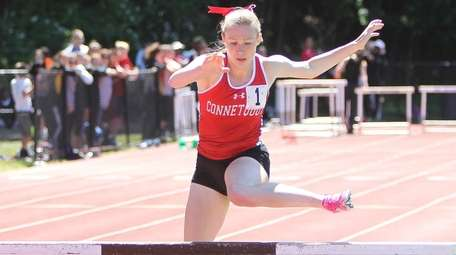 Kelly Iocca of Connetquot goes over the last