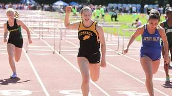 Commack's Amanda McNelis wins the 100 Meter Hurdles