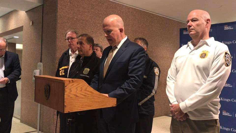 NYPD Police Commissioner James O'Neill speaks Sunday, June