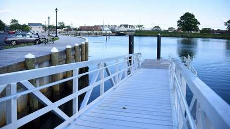 A view of Freeport's newly renovated Milburn Creek