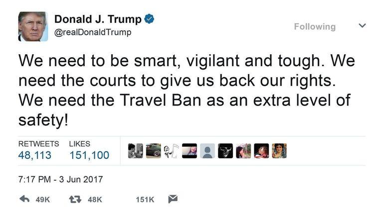 In response to terror attacks in London, President