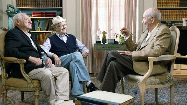 Left to right, Mel Brooks, Norman Lear