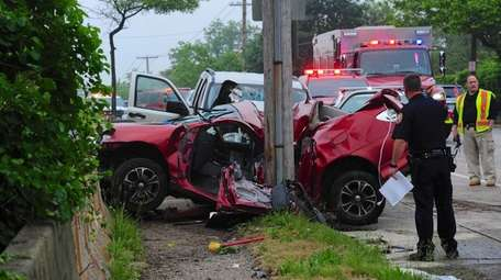 One person was killed in a two-vehicle crash