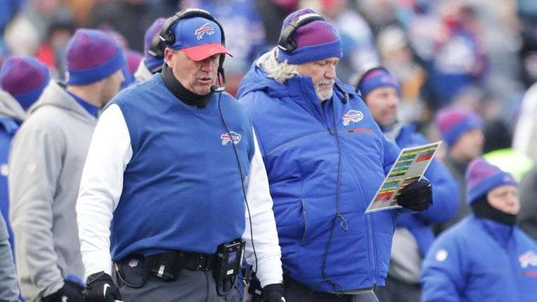 Rex Ryan, left, and Rob Ryan, right, were