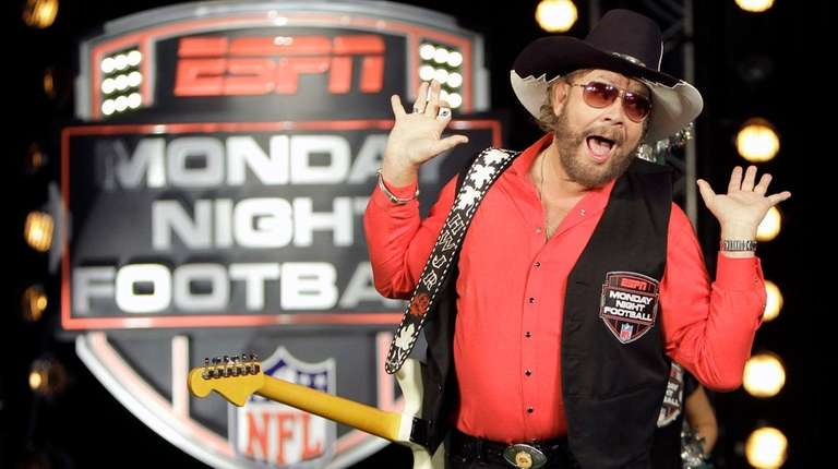 Hank Williams Jr. performs during the recording of