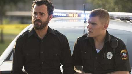 Actors Justin Theroux, left, and Chris Zylka star in