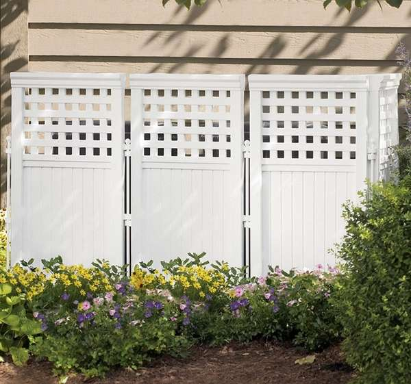 Tastefully invisible: This outdoor screen is available for