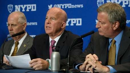 From left, NYPD Chief of Detectives Robert Boyce,