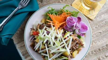 Duck salad know as Yum Ped Yang is
