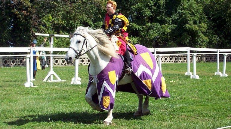 An knight will battle in full body armor