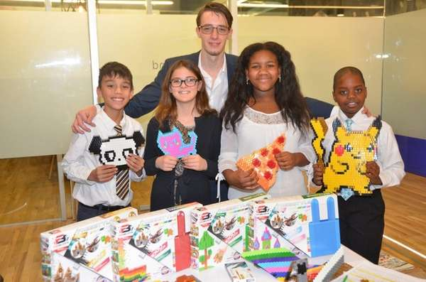 Kidsday reporters Thomas Komsic, left, Gabriella Palma, Nicole