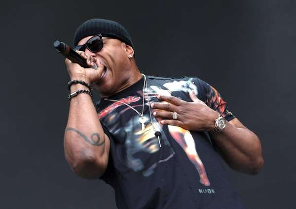 LL Cool J performs on the Samsung Stage